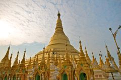 Shwedagon pagoda in Yangon, Burma Royalty Free Stock Photography