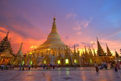 Shwedagon Pagoda. In Yangon Burma Royalty Free Stock Photos