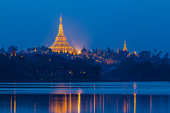 Shwedagon Pagoda in Yangon City, Burma Royalty Free Stock Photo