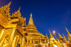 Shwedagon Pagoda in Yangon City, Burma Royalty Free Stock Photography