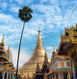 Shwedagon Pagoda in Yangon, Landmark and No. 1 tourist attractions in Myanmar (Burma). Stock Image
