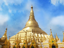 Shwedagon Pagoda in Yangon, Landmark and No. 1 tourist attractions in Myanmar (Burma). Stock Images