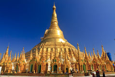 Shwedagon Pagoda-Yangon-Myanmar. The Shwedagon Pagoda in the city of Yangon in Myanmar (Burma Stock Images
