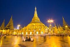 Shwedagon Pagoda. In Yangon . Myanmar Royalty Free Stock Image