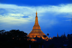 Shwedagon pagoda. In Yangon Myanmar stock photos