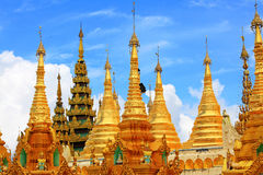 Shwedagon Pagoda, Yangon, Myanmar. The Shwedagon Pagoda also known as the Great Dagon Pagoda and the Golden Pagoda, is a gilded stupa located in Yangon, Myanmar royalty free stock photography