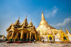 The Shwedagon Pagoda in Yangon, Myanmar Stock Photography