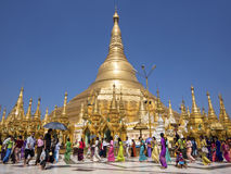 Shwedagon Pagoda in Yangon, Myanmar (Burma) Stock Photo