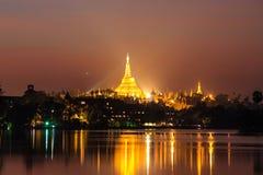 Shwedagon Pagoda  ,  Yangon in Myanmar (Burmar) Stock Image