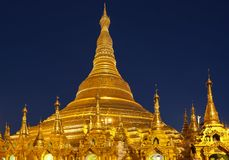 Shwedagon Pagoda  Yangon in Myanmar Royalty Free Stock Images