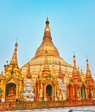 Shwedagon pagoda in Yangon. Myanmar. Royalty Free Stock Image