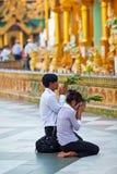 Shwedagon pagoda in Yangon, Myanmar Stock Photography
