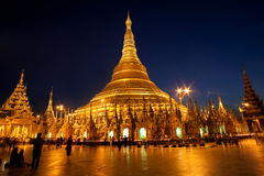 Shwedagon Pagoda in Yangon, Myanmar Stock Photography