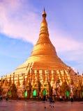 Shwedagon Pagoda in Yangon, Myanmar Stock Images