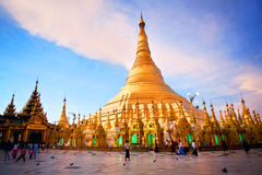 Shwedagon Pagoda in Yangon, Myanmar Stock Image