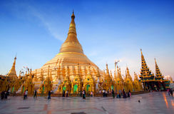 Shwedagon Pagoda in Yangon, Myanmar Stock Photos
