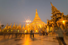 The Shwedagon pagoda, yangon, Myanmar Royalty Free Stock Photos