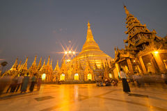 The Shwedagon Pagoda, yangon, Myanmar stock images