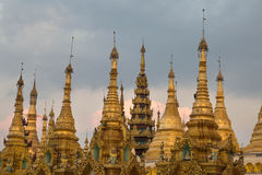 The Shwedagon pagoda, Yangon, Myanmar stock photography