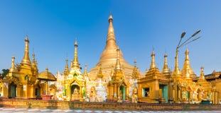 Shwedagon pagoda in Yangon. Myanmar. Panorama Stock Photos