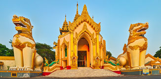 Shwedagon pagoda in Yangon. Myanmar. Panorama Stock Photography