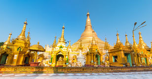 Shwedagon pagoda in Yangon. Myanmar. Panorama Stock Photo