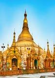 Shwedagon pagoda in Yangon. Myanmar. Stock Images