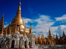 Shwedagon Pagoda-Yangon-Myanmar. The Shwedagon Pagoda in the city of Yangon in Myanmar stock photography