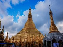 Shwedagon Pagoda-Yangon-Myanmar. The Shwedagon Pagoda in the city of Yangon in Myanmar Stock Image
