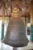 Shwedagon Pagoda, Yangon, Myanmar. The Singu Min Bell at the Shwedagon Pagoda, a gilded stupa located in Yangon, Myanmar. It was donated in 1799 by King Singu Stock Photography