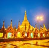 Shwedagon pagoda in Yangon. Night view Stock Image