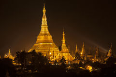 Shwedagon Pagoda in Yangon (Rangoon), Myanmar Royalty Free Stock Photos