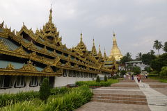 Shwedagon pagoda in Yangon Royalty Free Stock Photos