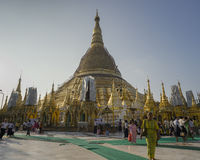 Shwedagon Pagoda in Yangon. Royalty Free Stock Photo