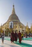 Shwedagon Pagoda in Yangon. stock photos