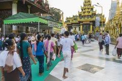 Shwedagon Pagoda in Yangon. stock photography