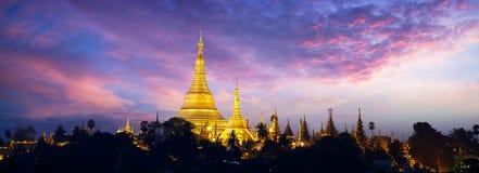 Shwedagon Pagode stockfotografie