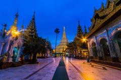 Shwedagon-Pagode auf Myanmar Stockfotos