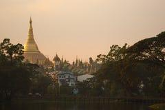 Shwedagon-Pagode bei Myanmar Lizenzfreie Stockbilder