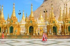 Shwedagon-Pagode in Rangun, Myanmar Stockbilder