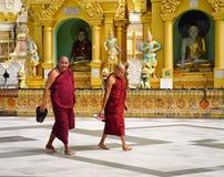 Shwedagon-Pagode in Rangun, Myanmar Lizenzfreies Stockfoto