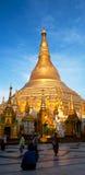 Shwedagon-Pagode in Rangun, Myanmar Stockbild