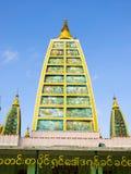 Shwedagon-Pagoden-Innenstruktur in Rangun, meinem stockfoto