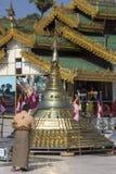 Shwedagon pagodkomplex - Myanmar (Burman) Arkivfoton