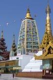 Shwedagon pagodkomplex - Yangon - Myanmar Arkivbilder