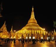 Shwedagon pagodMyanmar Burma Arkivbilder