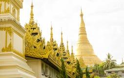 Shwedagon pagodyttersida Royaltyfri Foto