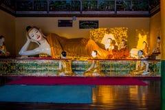 Shwedagon Paya塔 缅甸仰光 图库摄影
