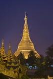 Shwedagon Paya. Temple at night in Yangon, Myanmar (Burma) Asia Stock Photo
