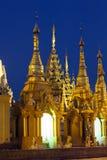 Shwedagon Paya Grounds by Night. The surrounding temples at the Shwedagon Paya complex in Yangon, Myanmar Royalty Free Stock Image